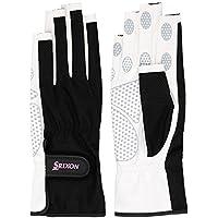 SRIXO|#SRIXON(スリクソン) テニス レディース用 シリコンプリント グローブ ネイルスルータイプ (両手セット) SGG2570 ブラック