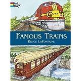 Famous Trains: Coloring Book