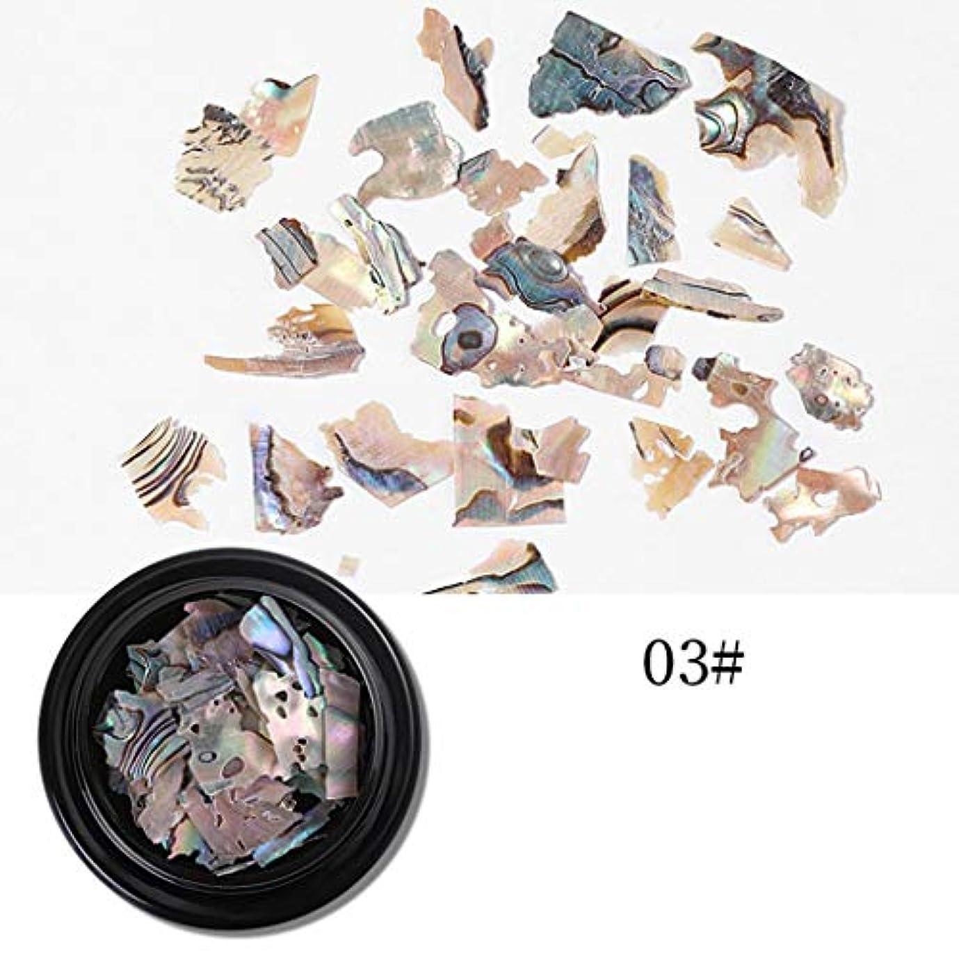 Yoshilimen 十分な1箱天然シェル石ネイルアート装飾長方形正方形フレークシェル砕石(None 3# thin shell pieces)