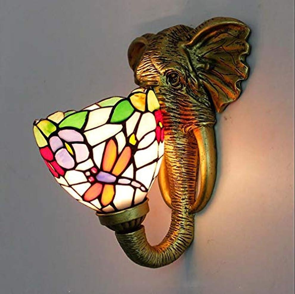 解説見落とすあなたは照明ヴィンテージティファニースタイルの壁ランプ、アンティークブロンズ仕上げ壁取り付け用燭台備品リビングルーム廊下寝室ベッドサイド階段,E