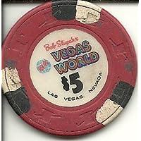 $ 5 Vegas世界ホテルRare Vintageラスベガスカジノチップ