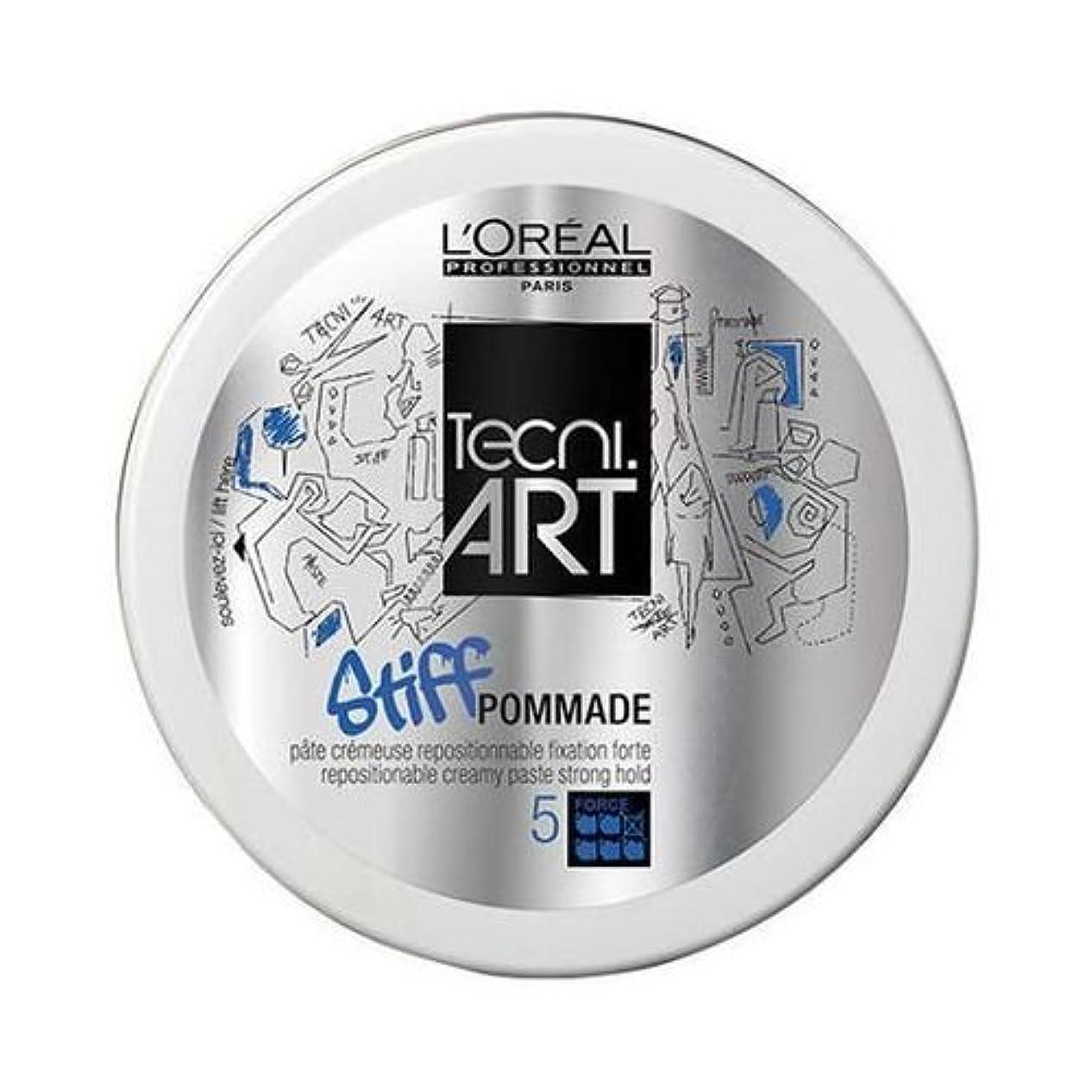 解放有害素子L'Oreal Tecni Art Stiff Pommade 75 ml [並行輸入品]