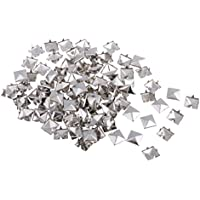 Dolity 100 pcs/pack Metal Square Pyramid Rivet Studs Nailhead Craft Spike for DIY Sewing Crafts 12mm