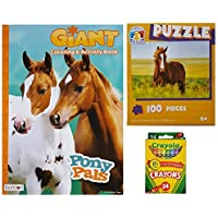 Horse and Ponies Activityギフトセット3項目のバンドル: Giant