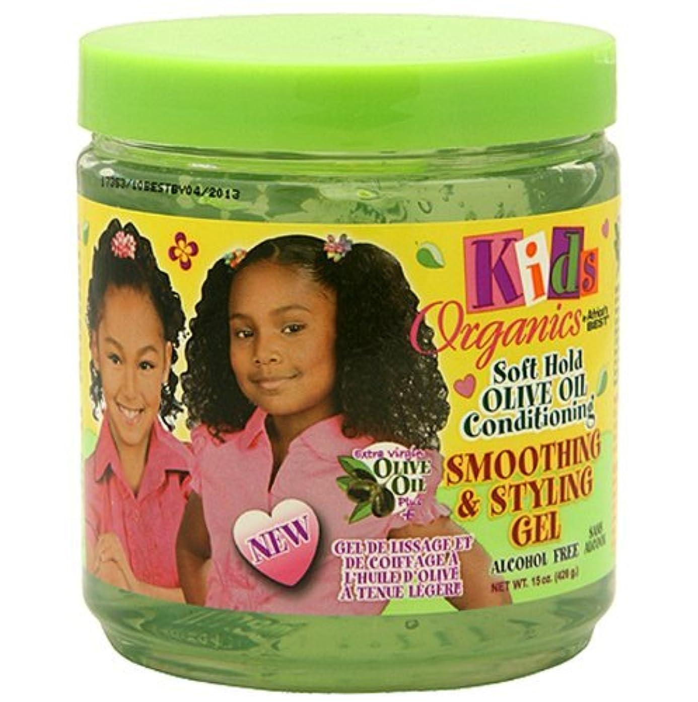 騒々しいエチケット暖かさAfrica's Best Kids Organic Smooth & Style Gel 445 ml Jar (並行輸入品)