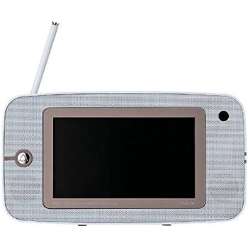 TWINBIRD ワンセグ付き7V型ポータブル防水DVDプレーヤー DVDZABADY ホワイト VD-J716W