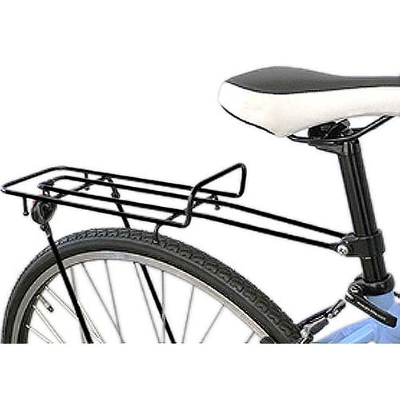 パンダパンチ付き添い人昭和インダストリーズ クロスバイク用リアキャリア RCX-100/700C&29re対応 ブラック