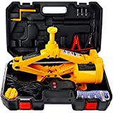 E-HEELP Electric Car Floor Jack Set, 3 Ton Automatic Scissor Lift Jack for Tire Change & - Built in LED, 2-Way Power Supply, Heavy Duty - 12V Electric Car Jack for Sedan & SUV…