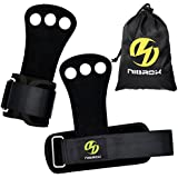 (Extra Small, Black) - Gymnastics Hand Grips, Crossfit Grips with Best Wrist Support, Perfect for Cross Training,Pullups Weight Lifting Chin Ups,Barbells,Kettlebell Swing + FREE Carrying Bag