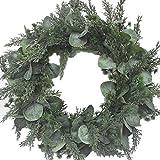 Anjetan Artificial Leaf Wreath Creative Faux Leaf Wreath Hanging Wreath Door Wreath for Wedding Decor