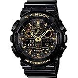 Casio G-Shock Analogue/Digital Mens Camouflage Black/Gold Watch GA-100CF-1A9DR