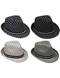 Fedora Trilby帽子for Kids – ピンストライプ( afedhatk18 )