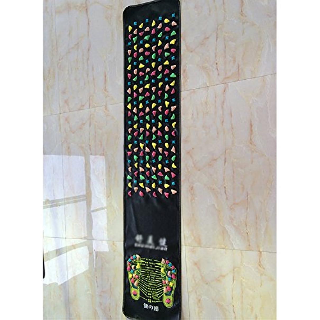パキスタン人ストラップマスタード足つぼマット 足つぼマッサージシート フットマッサージマット 健康 足裏 血行促進 健康グッズ 模造石畳の歩道 フットマッサージ