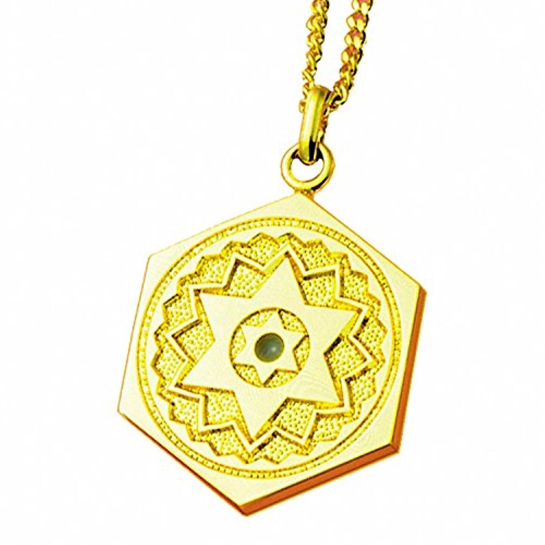 (ヒランヤ)ヒランヤペンダント ラピスラズリ ゴールド 六芒星 ヘキサグラム 六角形 ダビデの星 開運 ヒランヤ?パワーグッズ (45)