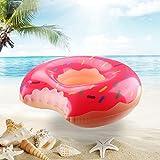 浮き輪 ドーナツ Amandakasa 直径 90cm 大人用 プール 海 ドーナツフロート(ピンク)