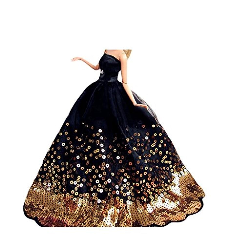 Youvinson バービー 人形用 服 花嫁のウェディングドレス ロングスカート 服 ドレス ドール用 人形 きせかえ バービー 服 ドレス ドール アクセサリー 人形着物 プリンセスドレス 飾り物 装飾