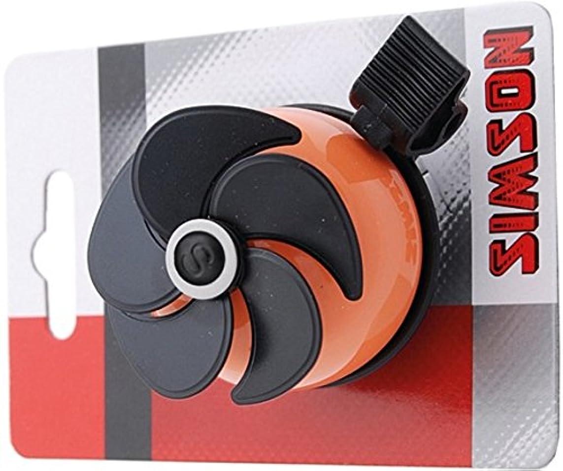 科学的ティッシュすぐにSIMSON 自転車ベル エアー オレンジ&ブラック 羽が回転 クリアートーン 021209