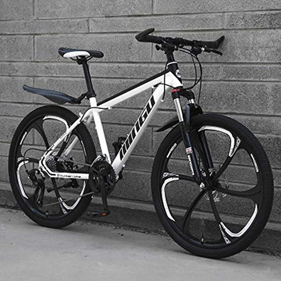 出席マーガレットミッチェル春マウンテンバイク24/26スピードクロスカントリー自転車学生ロードレーシングスピードバイク衝撃吸収自転車マウンテンバイクオフロードデュアルクールな個性,White and black,24