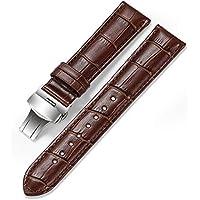 Calfskin Watch Band Geniune Calf Leather Watch Strap Replacement 18mm 19mm 20mm 21mm 22mm Strap Watchband Button Deployment Buckle