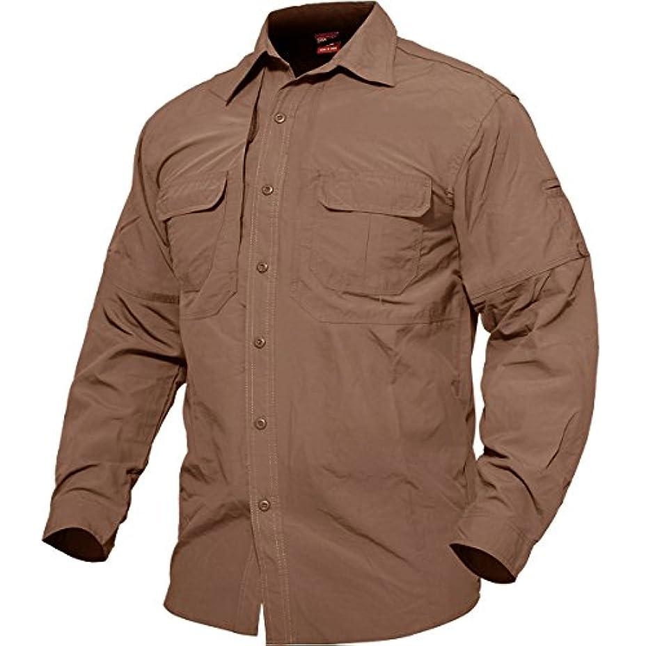 特許二層月曜TACVASEN アウトドア タクティカル シャツ 速乾 長袖 通気 ミリタリー ロングスリーブ 半袖可能 登山 春夏秋