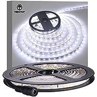 WenTop LEDテープライト 両面テープ SMD 3528防水 DC 12v 5M 300leds 60leds/m ホワイトフレキシブルテープライティングテープライト、家、バー、レストラン装飾 - 電源アダプタ含まれません