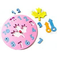 ink2055 2pcs FoamクロックJigsaw Kidsパズル初期学習Developmental教育おもちゃ – ランダムカラー One Size B5215GHE1D6IQ07HPZJ7A