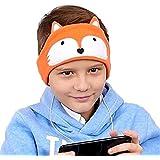 Kids Headphones - Easy Adjustable Kids Costume Headband Silky Headphones for Children, Perfect for Travel and Home - Fox