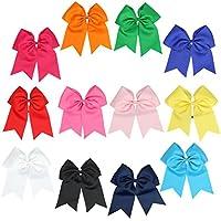 8 インチ ジャンボ チアリーダー リボン ポニーテールホルダー チアリーディングリボン ヘアネクタイ 複数の色 US サイズ: Large