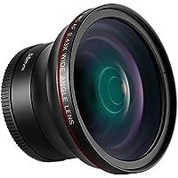 Neewer 58MM 0.43x HD広角レンズ マクロクローズアップ部分レンズ付き 歪みがない Canon EOS Rebel 700D 650D 600D 550D 500D 450D 400D 350D 100D (T5i T4i T3i T2i T1i XSi XTi XT SL1) DSLRカメラに対応