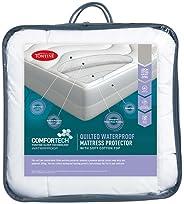 Tontine Comfortech Quilted Waterproof Mattress Protector, Single