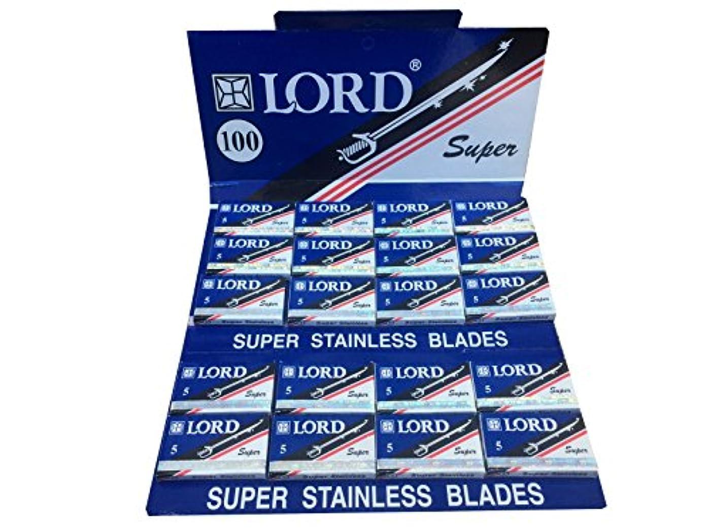 子孫ブラシ寂しいLord Super Stainless 両刃替刃 100枚入り(5枚入り20 個セット)【並行輸入品】