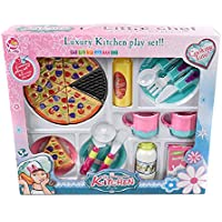 wallydeals Kids Pretend Luxury Kitchen PlayセットTea Setブルー – -- 20 Piece