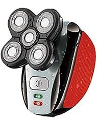 多機能電気かみそり、USB充電かみそり、ウェット&ドライ、鼻毛トリミング5ヘッド交換