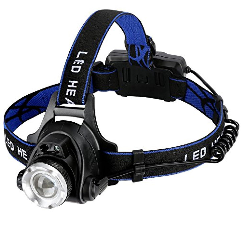 忠実八幻想的NINE FLOWERS LEDヘッドライト USB充電式 センサー機能付き 210g 90°調整可能 2つの18650バッテリー付き