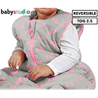 Baby Studio Winter Version 2.5 Tog XO Cotton Studio Bag for 6-18 Month Babies, XO Pink