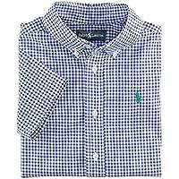 【ラルフローレン】RALPH LAUREN ギンガムチェック半袖シャツ ブルー☆3・4・5・6・7 並行輸入品 男の子 ボーイズ