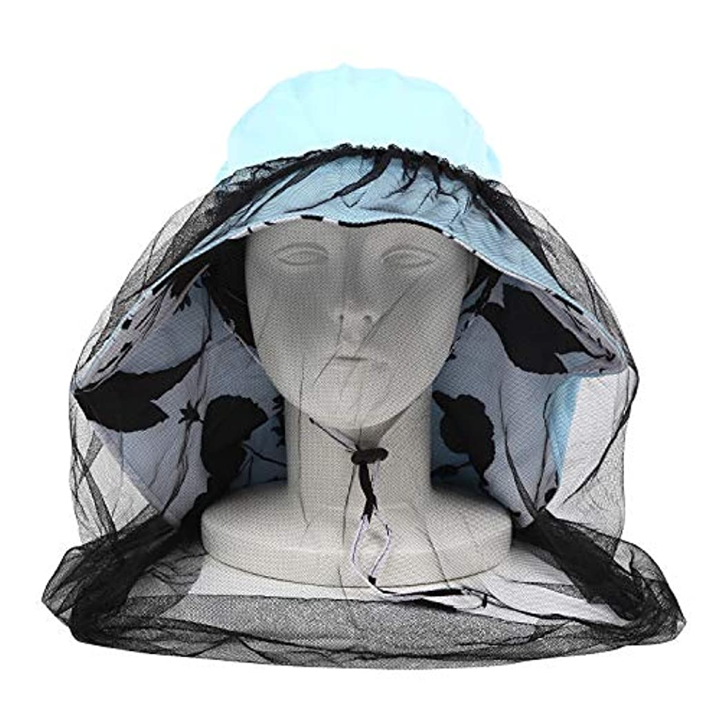 賠償群れ良心EBISSY 虫除けネット付き帽子 つば広 【 取り外し可能 あご紐 防虫ネット 】 日よけ帽子 レディース おしゃれ 紫外線対策