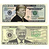 TheGag Donald-Trump-2020-Bill (50 Pack) Trump Money-Currency-Dollar-Bills 25 of Each Bill Great Gift Stocking Stuffer Republican President Supporters Rally-Merchandise-Souvenirs