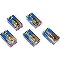 【5個セット】9Vアルカリ乾電池【006P/6F22】9ボルト角型アルカリ電池/ラジオ/防災/バッテリー【水銀0使用】