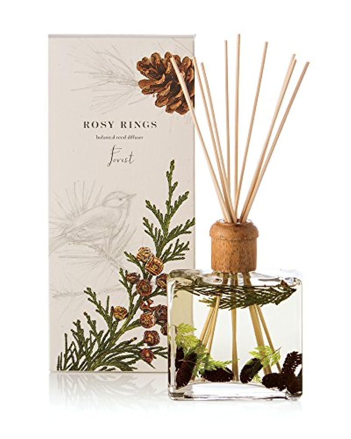 長椅子イノセンスジャングルロージーリングス ボタニカルリードディフューザー フォレスト ROSY RINGS Signature Collection Botanical Reed Diffuser – Forest