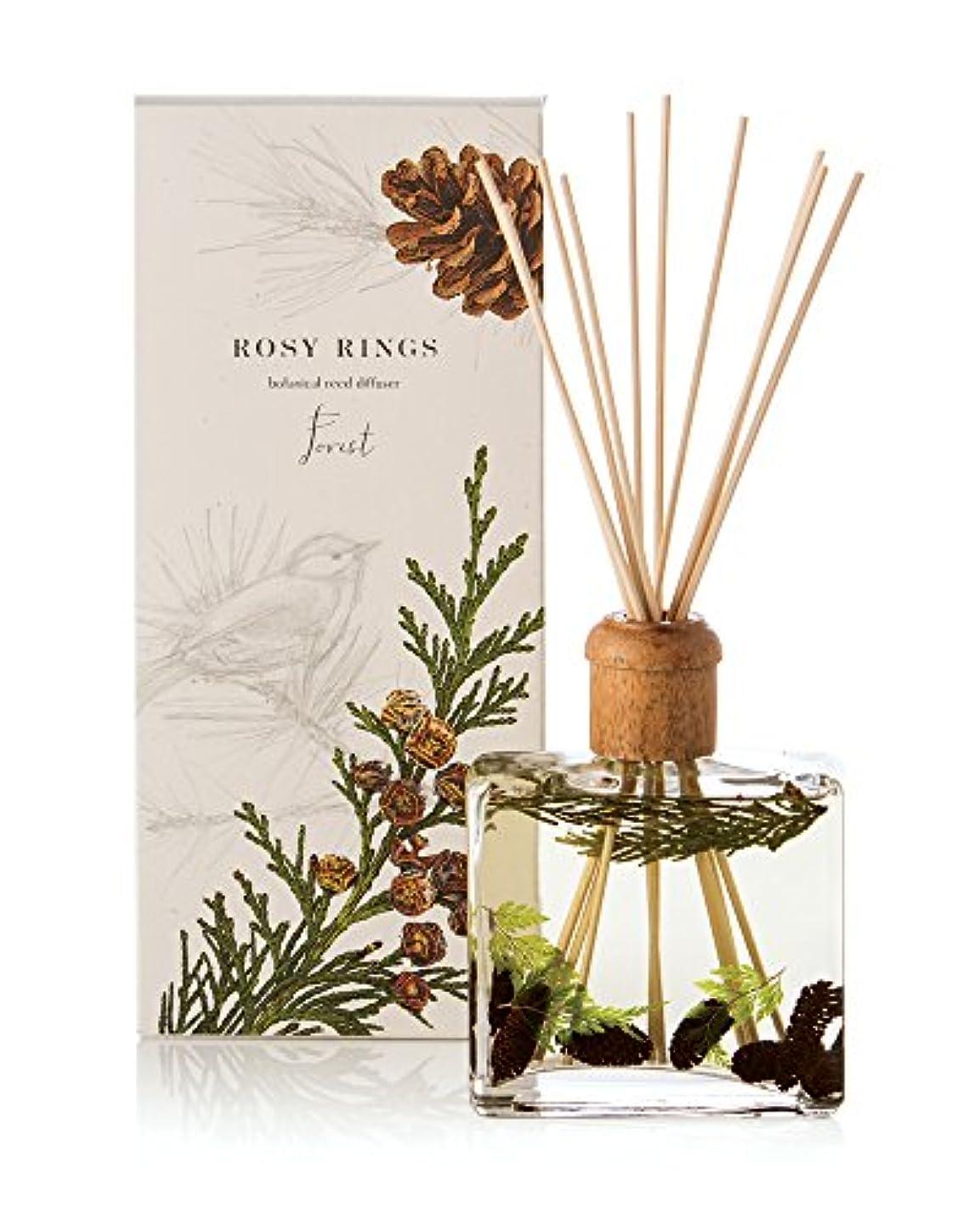 肌寒いスキーム先住民ロージーリングス ボタニカルリードディフューザー フォレスト ROSY RINGS Signature Collection Botanical Reed Diffuser – Forest