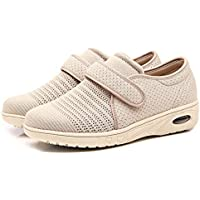 Orthoshoes Womens Edema Shoes Mesh Breathable Extra Wide Walking Sneakers Air Cushion for Plantar Fasciitis, Diabetic, Elderly, Swollen Feet