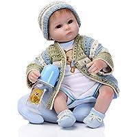Lilith Realistic Lifelike 17インチ42 cm Lovely Cute Reborn人形ソフトボディシリコンビニール人形新生児幼児用おもちゃ子供Xmasクリスマス誕生日ギフトマグネットおしゃぶり