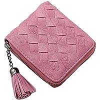 レトロサイドファスナーショート財布/財布の女性