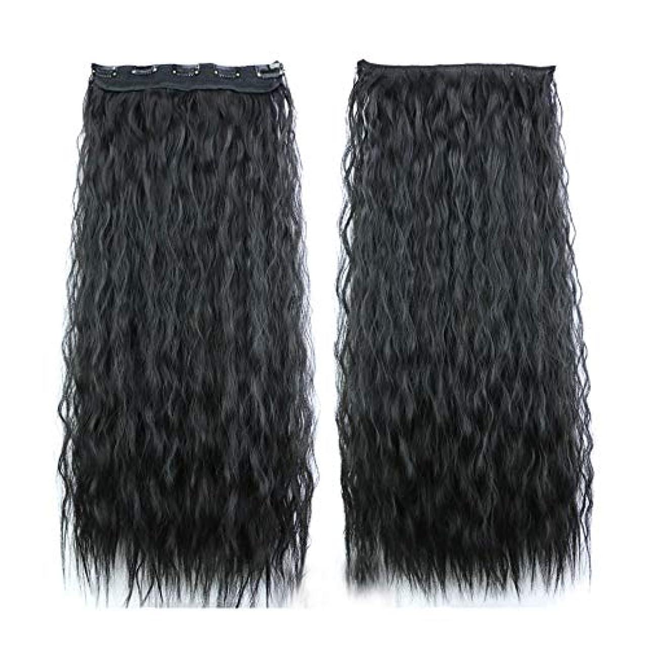 不愉快に慎重に移行するLazayyii 女性 かつら ストレートヘ シームレスパッチ 波状長い巻き毛パーティーコスプレ (ブラック)