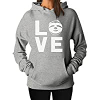 Tstars - Animal Lovers - I Love Sloths - Lazy Sloth Cute Face Women Hoodie
