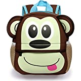 Hipiwe Toddler Backpack for Little Kids Water Resistance Kindergarten Preschool Bags Neoprene Children Schoolbag Cute Animal Cartoon Backpacks for Baby Boys Girls
