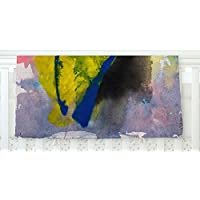 KESS InHouse Malia Shields Exploration Yellow Blue Fleece Baby Blanket 40 x 30 [並行輸入品]