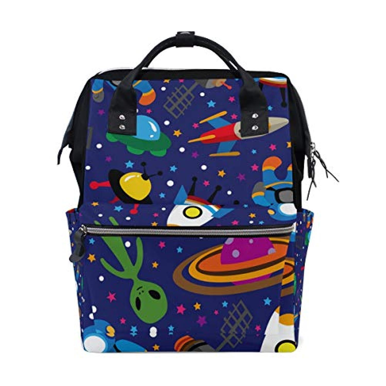 ママバッグ マザーズバッグ リュックサック ハンドバッグ 旅行用 宇宙飛行士 星空 プラネット柄 ファション