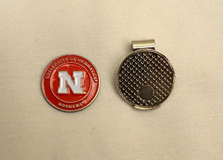 シェルター購入ロールNCAA大学ネブラスカ州のゴルフボールマーカーwith磁気帽子クリップ